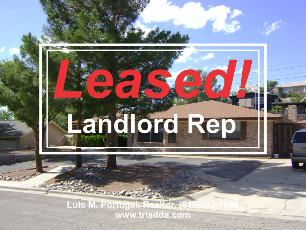 Leased Home in El Paso, TX homes for sale luis portugal triadda triada real estate
